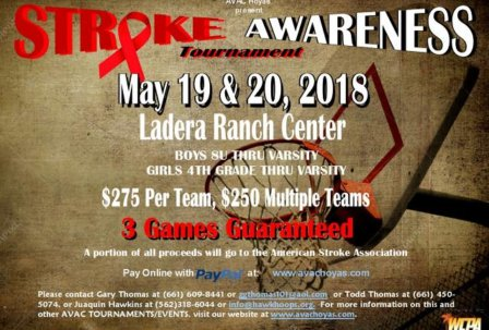 2018 Stroke Awareness Tournament